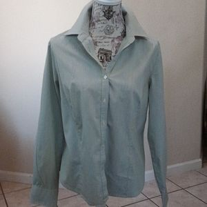 George Stretch Button Down Blouse